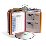 Tarifold Rotary Reference Display, 50 pockets - assorted-blue-red-yellow-green-black - us-us - 50-us - france-us