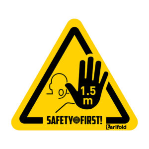 Tarifold 1,5 meter-Safety stickers