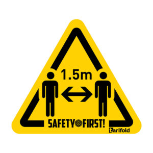 Tarifold Safety floor marking stickers stay 1.5 m appart 7999803_1