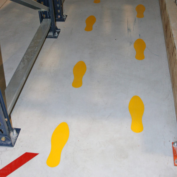 Floor Marking footprint symbol