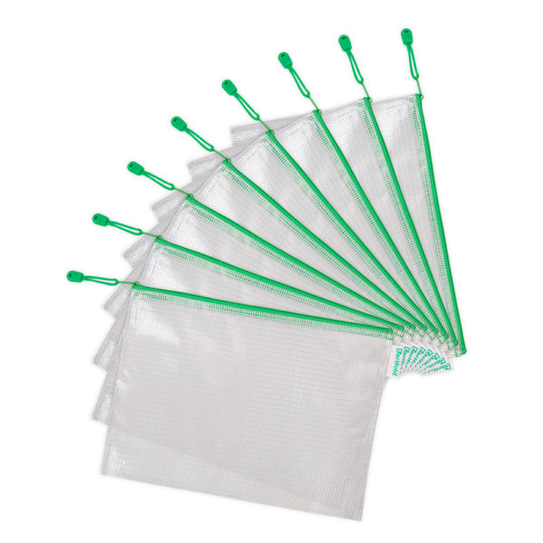 Zipper Bags A4 green