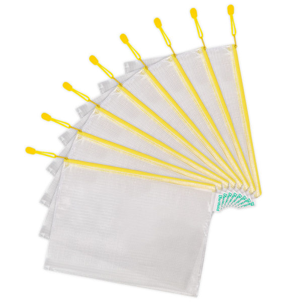 Zipper Bags A4 yellow