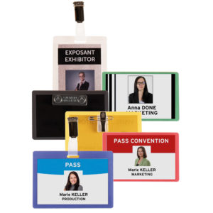 Self-Laminating badge range