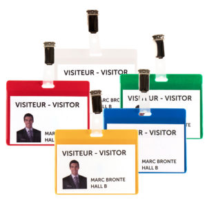 Kits Badges Visiteurs - PVC