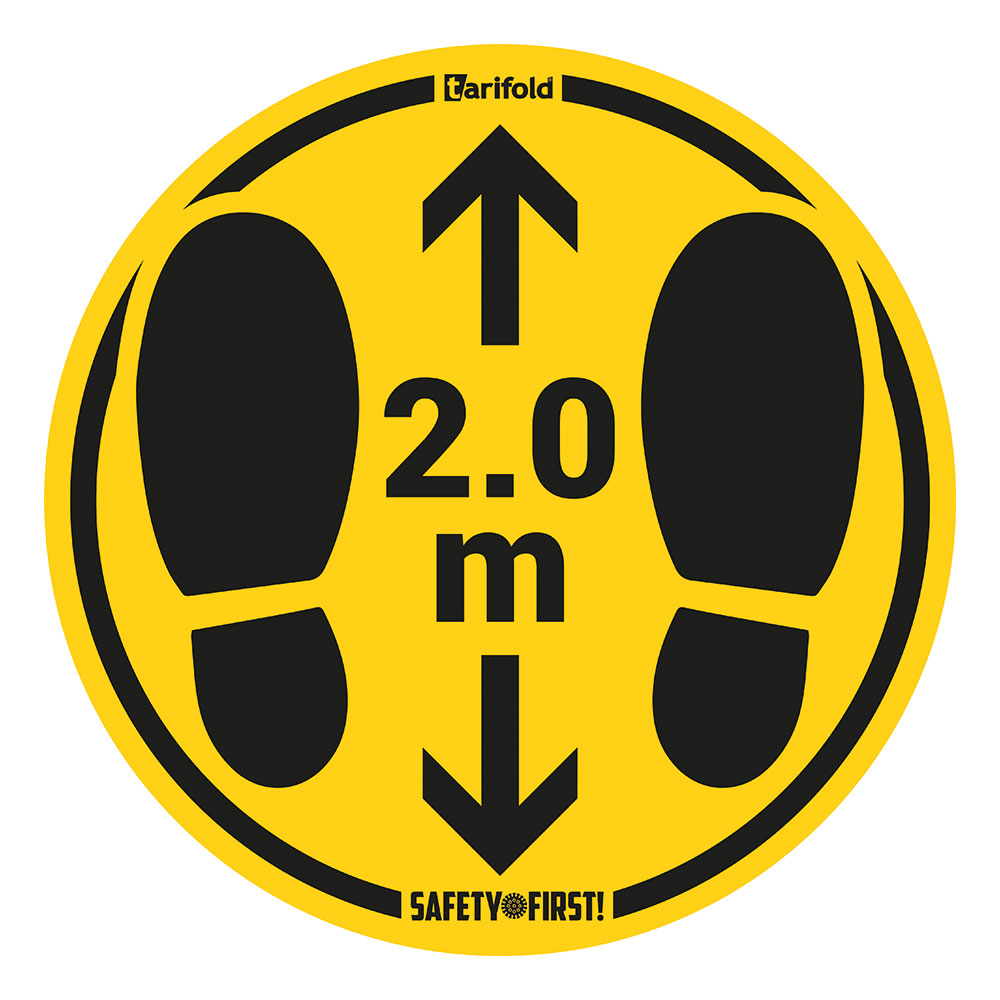 Shop Open Social Distancing Window Door Sticker 2m Sign Keep your Distance Vinyl