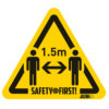 Safety floor marking stickers - keep social distance - yellow-black - 150-x-170-mm - 1-5m - netherlands