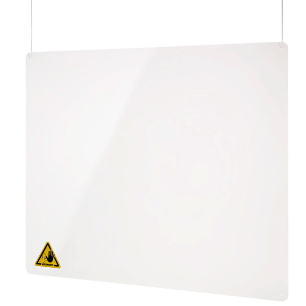 Hanging protective acrylic screen