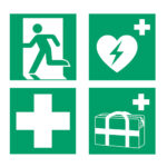 ISO 7010 safety signs - Emergency and First Aid Signs - green-white - 200-x-200-mm - 1 - netherlands