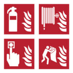 ISO 7010 safety signs - Fire Safety Signs - red-white - 150-x-150-mm - 1 - netherlands