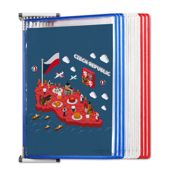 Metal Wall Kit With Patriotic Pockets